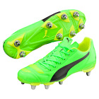 Puma evoPOWER 4.2 H8 SG Green Black Rugby Boots Size UK 6 7 8 9 10 11 12 13