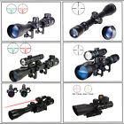 Pinty Combo 3 9x40mm EG Tactical Rifle Scope Rangefinder Crosshair W/ Red Laser