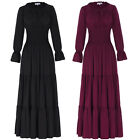 Vintage Medieval Renaissance Long Maxi Dress Summer Beach Wedding Casual Costume