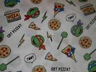 Teenage Mutant Ninja Turtles Got Pizza White CP61840 Springs Sew Cotton Fabric