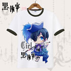 Anime Black Butler Ciel Phantomhive Cosplay Casual T-Shirt Tops Unisex Sport  #4