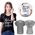 Summer Women Short Sleeve T-shirts Cotton Printed Tops Fashion Blouse S-XXL