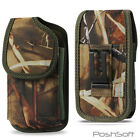 RUGGED Camo Carry Case Pouch for LG Phones + Holster Belt-Clip -Camouflage LG XL