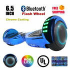 "UL2272 Bluetooth Flash LED 6.5""  Chrome Color Two Wheel Self Balancing Scooter"
