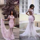 Mermaid Long Formal Evening Dresses Celebrity Cocktail Party Prom Wedding Gowns