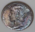 NGC MS68 1945 S Mercury Dime MONSTER MULTI-COLOR TONING See Pics C6150