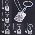 There is This Girl She Stole My Heart Keychain &Pendant Necklace Set Family Gift
