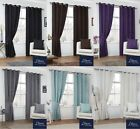 Luxury Faux Suede Soft Ready Made Eyelet Curtains Ring Top Fully Lined