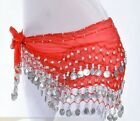 Plus Size XL Chiffon Belly Dance Hip Scarf Wrap Belt Tribal Sash Skirt