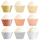 PARTY DECORATIONS CUPCAKE WRAPPERS METALLIC GOLD SILVER ROSE BIRTHDAY WEDDING