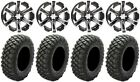 "ITP SS312 14"" Wheels Black 30"" Crawler XR Tires Suzuki KingQuad"