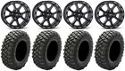 "ITP Tsunami 14"" Wheels Black 30"" Crawler XG Tires Suzuki KingQuad"
