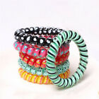 5PCS Elastic Rubber Hairband Phone Wire Hair Tie Rope Band Girls Ponytail Chicgt