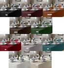 PLAIN LINEN LOOK SQUARE ROUND TABLE CLOTHS COVERS MULTIPLE COLOURS ALL OCCASIONS