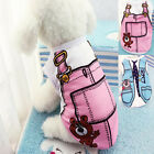 Cute Spring Cotton Vest Coat Apparel Clothes T-Shirt For Puppy Pet Dog Supply 1X