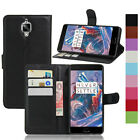Magnetic Leather PU Card Slots Flip Stand Protector Case Cover For OnePlus 1 2 3
