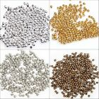 500Pcs Lot New Silver/Golden/Nickel/Copper Plated Round Spacer Beads For DIY 2mm
