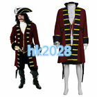 Pirates of the Caribbean captain hook Cosplay costume custom adult outfit A.749