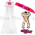 BRIDE TO BE TIARA VEIL SASH INFLATABLE BLOW UP MAN GARTER HEN NIGHT PARTY DO KIT