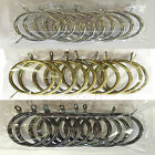 10 PACK Large Heavy Duty Metal Curtain Rings to fit 30mm Curtain Pole, 4 Colours