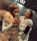Luxury Real Fox Fur Vest Women Ladies' Gilet Ladies Long Waistcoat/Vest Coats