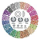 1000pcs SS4-SS46 Acrylic Flat Back Rhinestone Gem Round Scrapbook Nail DIY Craft