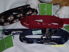 VERA BRADLEY LEASH-SIZE XS/S-CHOOSE MESA RED,CLASSIC BLACK OR WINDSOR NAVY-NWT