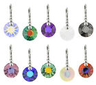 Sterling Silver Sun Earrings Safety Hooks with SWAROVSKI 6724 12mm Crystals