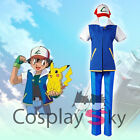 Pocket Monster Ash Ketchum Cosplay Costume Daily Suit Student Uniforms
