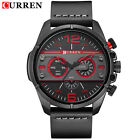 CURREN 8259 Leather Strap Luxury Analog Quartz Large Dial Sports Wirshwatches