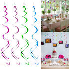 12Pcs Colorful Birthday Party Hanging Plastic Swirl Decorations Party Supplies