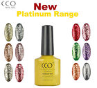 CCO UV LED NAIL GEL POLISH VARNISH  SOAK OFF NEW PLATINUM RANGE 24 COLOURS