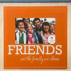 Glass FRIENDS frame - 6 x 4 - orange and White - Gift Favors / FC-12233