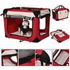 New 4 Sizes Pet Dog Carrier Portable House Soft Sided Cat Travel Tote Bag Red