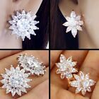 #E522E PAIR Classy Quality CZ Cubic Zirconia CLIP ON EARRINGS Deluxe Jewellery