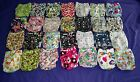 Lot of 28 New Girls Tagless ALVA Cloth Pocket Diapers With Double Gussets
