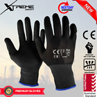Xtreme Black Safety Gloves Nitrile Mechanical Sandy Work Gloves 24 Pairs NEW