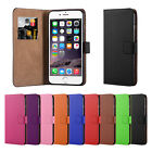 New PU Leather Flip Wallet Cover Case for Apple Iphone 6 &amp; 6+ For Iphone 6 plus <br/> FREE Screen Protector and Polishing Cloth &amp; Stylus
