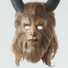 Beauty and The Beast Prince Mask Cosplay Halloween Prop Helme with tusks