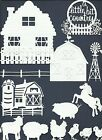 LOTS 3 - 36 PCS. SUB-SETS FARM DIE CUTS* HOUSE BARN COW HORSE FENCE CHICK  READ