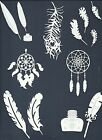 LTS 5-28 PCS SUB-SETS FEATHERS DIE CUTS* DREAM CATCHER PEACOCK OSTERICH  READ