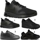 Boys Girls Back To School Kids Black Nike Air Max Sports Lace Up Trainers Shoes