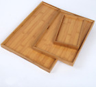 BAMBOO SERVING TRAY Tea Coffee Table Fruit container tea tray Gift Present New