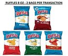 NEW Ruffles Flavored Potato Chips 8 OZ. Bags PACK OF 2 BAGS + EASY SHIPPING SAVE