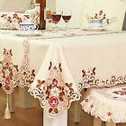 lace square tablecloth - Embroidered Tablecloth Home Table Decor Lace Rose Cutwork Restaurant Table Cover