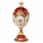 European Crystal Faberge Egg Russian Royal Big Imperial Trinket Jewellery Box