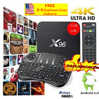 X96 Android 6.0 Latest  Smart TV BOX S905X Quad Core 4K Keyboard Free Shipping