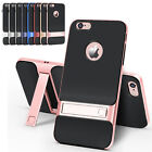 TPU PC Shockproof Phone Back Cover Case with Stand for iPhone 6 6S Plus 4.7 5.5