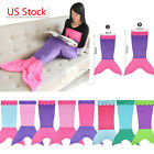 Kids Children Mermaid Tail Fleece Blanket Snuggle-in Sleeping Bag Fancy Dress