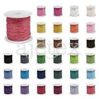 80M Waxed Cotton Cord Beading Thread Jewellery Craft Thong Supply 0.8/1/1.5/2mm